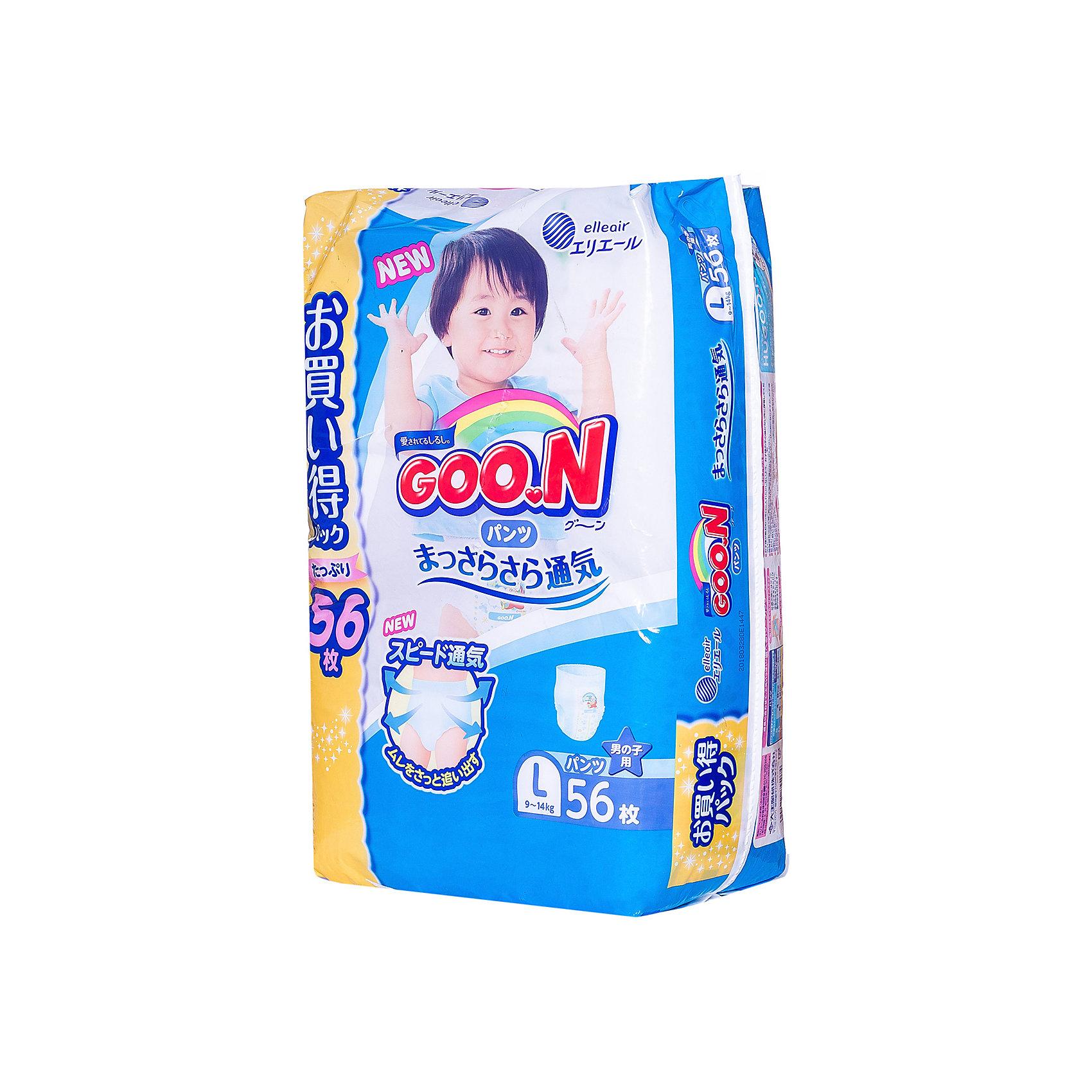 Подгузники-трусики для девочек ULTRA JUMBO PACK,  L 9-14 кг., 56 шт., Goon