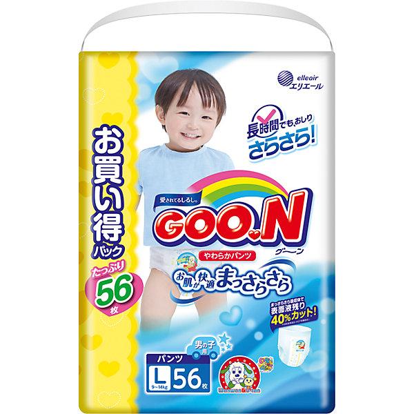 Goon Подгузники-трусики для мальчиков ULTRA JUMBO PACK, L 9-14 кг., 56 шт., Goon подгузники goon s 4 8 кг 84шт