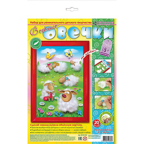 Набор для изготовления картины Веселые овечкиАппликации из бумаги<br>Характеристики:<br><br>• Коллекция: объемная аппликация<br>• Уровень сложности: средний<br>• Материал: картон, бумага, скотч, синтепух<br>• Комплектация: набор цветного картона и цветной бумаги, самоклеящаяся пленка, картонная рамка, скотч, инструкция<br>• Форма картины: 3d<br>• Размеры готовой картинки (Ш*В): 21*30 см<br>• Размеры (Д*Ш*В): 22*34*5 см<br>• Вес: 100 г <br>• Упаковка: картонная коробка<br><br>Уникальность данных наборов заключается в том, что они состоят из материалов разных фактур. Благодаря использованию двухстороннего скотча, рабочее место и одежда ребенка не будет испачкана, а поделка будет выглядеть объемной и аккуратной.<br><br>Набор для изготовления картины Веселые овечки состоит из всех необходимых материалов для создания картины, на которой изображены пушистые овечки на зеленой полянке. В комплекте предусмотрена рамка для оформления поделки.<br><br>Набор для изготовления картины Веселые овечки можно купить в нашем интернет-магазине.<br>Ширина мм: 220; Глубина мм: 340; Высота мм: 50; Вес г: 100; Возраст от месяцев: 36; Возраст до месяцев: 60; Пол: Унисекс; Возраст: Детский; SKU: 5541503;