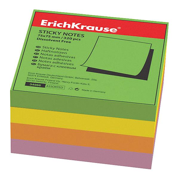Erich Krause Блок бумаги с клеевым краем Тропик, 75х75мм., Erich Krause berlingo бумага для заметок c клеевым краем 7 6 х 7 6 см цвет зеленый 100 листов