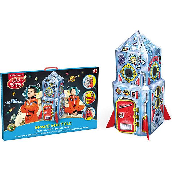 Игровой конструктор для раскрашивания Космический шаттл,  Artberry от ErichKrauseКартонные домики-раскраски<br>Игровой конструктор для раскрашивания Space Shuttle, Artberry, Erich Krause.<br><br>Характеристики:<br><br>• Для детей в возрасте: от 3 лет<br>• Комплектация: детали для сборки ракеты 16 шт, гелевые цветные мелки 6 шт.<br>• Размер собранной ракеты: 165х83х83 см.<br>• Сборка не требует клея и ножниц<br>• Материал: картон<br>• Размер упаковки: 93,5х64х4 см.<br>• Вес:3,25 кг.<br><br>С конструктором Space Shuttle от Erich Krause ваш ребенок соберет объемную ракету и раскрасит ее супер яркими гелевыми мелками. Собранная ракета имеет достаточно устойчивую конструкцию. Сборка космического корабля – незабываемое и увлекательное занятие для юных ракетостроителей. В ракете высотой 165 см смогут, свободно поместится 2 будущих космонавта. Игровой конструктор для раскрашивания Space Shuttle, Artberry, Erich Krause поможет развить не только творческие способности ребенка, но и мелкую моторику, художественный вкус, логику, внимательность и умение нестандартно мыслить.<br><br>Игровой конструктор для раскрашивания Space Shuttle, Artberry, Erich Krause можно купить в нашем интернет-магазине.<br>Ширина мм: 920; Глубина мм: 620; Высота мм: 400; Вес г: 3280; Возраст от месяцев: 60; Возраст до месяцев: 180; Пол: Мужской; Возраст: Детский; SKU: 5543350;