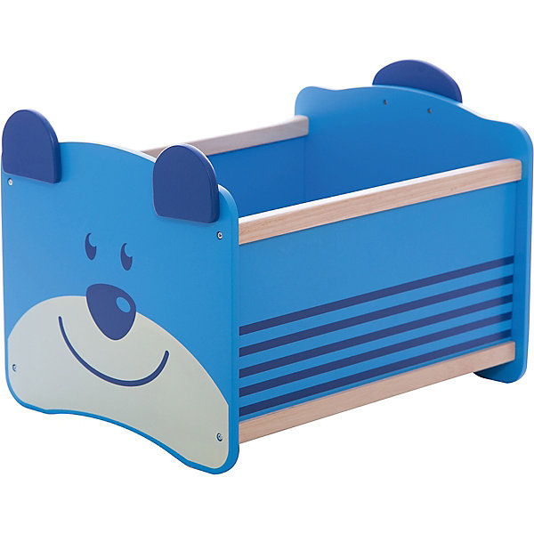 I'm Toy Ящик для хранения Медведь, I'm Toy, синий ящик для хранения kidkraft ящик для хранения austin toy box blueberry тёмно синий