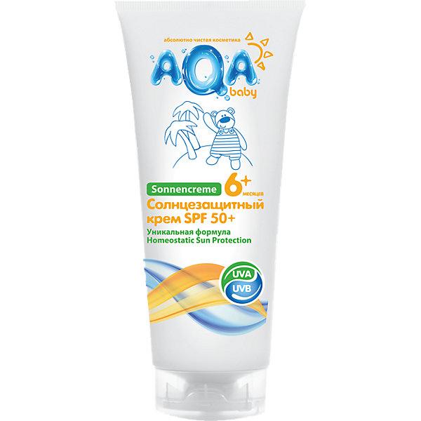 AQA baby Солнцезащитный крем SPF 50+, 75 мл., Aqa Baby aqa baby защитный крем 02012104 50 мл от мороза и непогоды