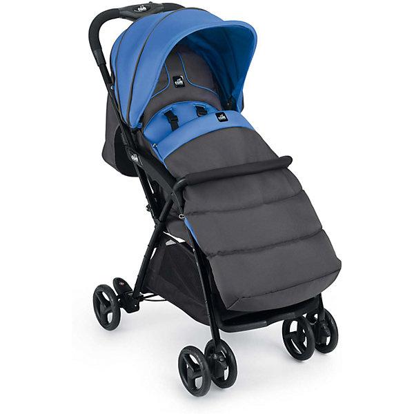 CAM Прогулочная коляска CAM Curvi, серо-синяя коляска прогулочная cam curvi 118 темный крем