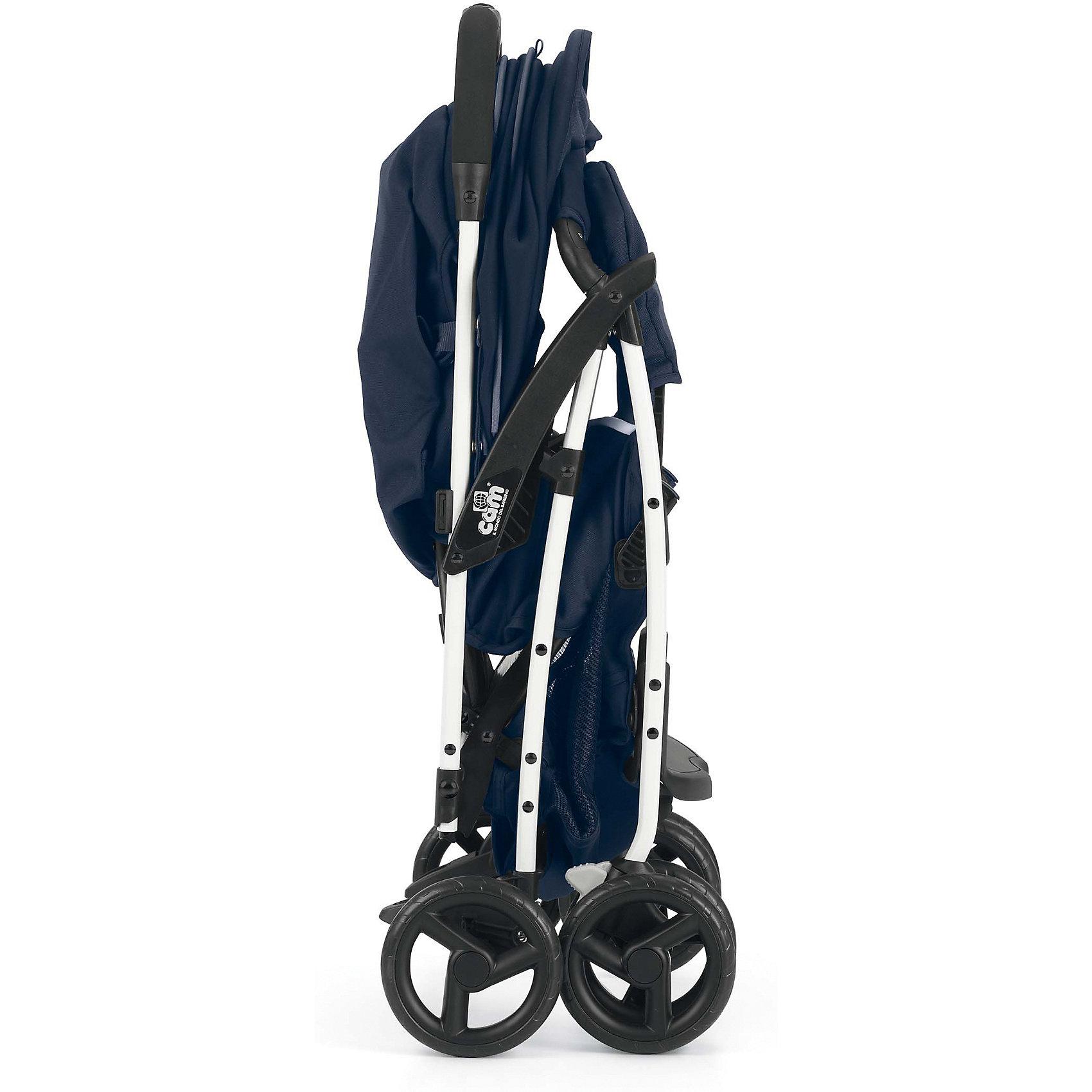 Прогулочная коляска CAM Curvi, серый/синий