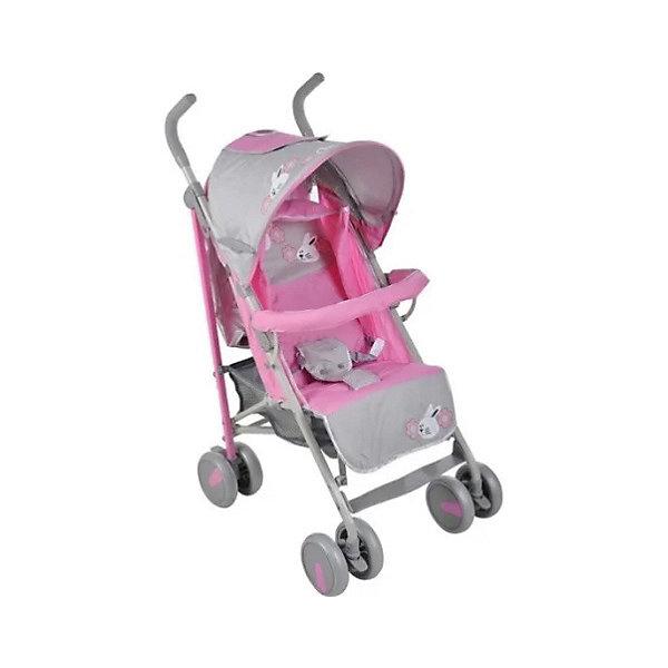 Bambola Коляска-трость Bambola Заяц, розовый/серый аксессуары для колясок bambola чехлы на колёса для коляски с поворотными колесами