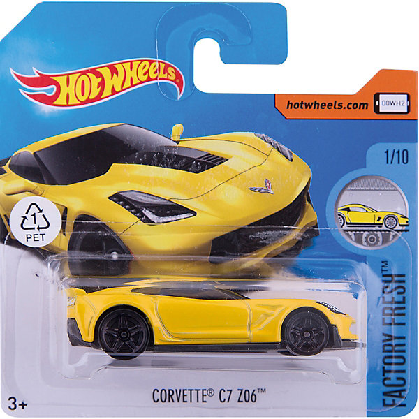 Mattel Базовая машинка Hot Wheels, Corvette C7 Z06 hot wheels машинка marvel war machine
