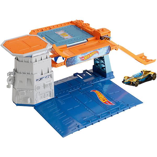 Автотрек Hot Wheels City Небесный взрывПопулярные игрушки<br>Характеристики:<br><br>• материал: металл, пластик<br>• в комплекте: детали трека, машинка, самолёт, инструкция<br>• серия: City<br>• упаковка: картонная коробка<br>• вес в упаковке: 30 гр<br>• размер упаковки: 11х4,5х11 см<br>• страна бренда: США<br><br>Набор представляет собой платформу для запуска самолёта. Можно устраивать настоящие соревнования на дальность полёта. Машинка может ездить по первому этажу или заезжать наверх по горке. Изготовлен из качественного и безопасного материала.