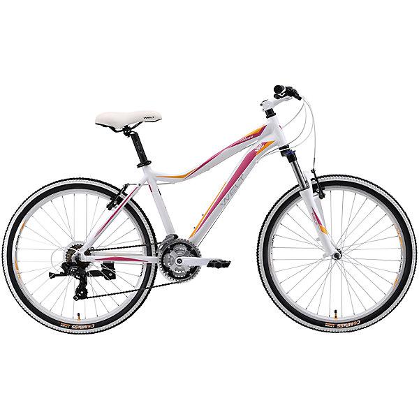 Велосипед  Edelweiss 1.0, 17 дюймов, бело-фиолетовый, WeltВелосипеды и аксессуары<br>Характеристики товара:<br><br>• цвет: белый, фиолетовый<br>• рама: Alloy 6061 <br>• размер рамы: 16,20<br>• диаметр колес: 26<br>• кол-во скоростей: 21<br>• тип вилки: амортизационная<br>• вилка: WELT MRK MLO 100mm<br>• переключатель задний : Shimano TY-300<br>• переключатель передний: Shimano TZ-30<br>• шифтеры: Shimano EF-51<br>• тип тормозов: дисковые механические<br>• тормоза: JAK-5<br>• система:  steel 42/34/24 <br>• кассета: Shimano HG20 12-28T<br>• тип рулевой колонки:  1-1/8 безрезьбовая<br>• покрышки: Compass 26 x 2,1 <br>• страна бренда: Германия <br><br>Велосипед  Edelweiss 1.0 D -это модель, которая создана  для кросс-кантри. Большие колеса, мягкая амортизация позволят преодолеть путь, проходящий по загородному бездорожью. <br><br>Велосипед  Edelweiss 1.0 D, 17 дюймов, бело-фиолетовый, Welt можно купить в нашем интернет-магазине.<br>Ширина мм: 1450; Глубина мм: 200; Высота мм: 800; Вес г: 16500; Возраст от месяцев: 168; Возраст до месяцев: 2147483647; Пол: Женский; Возраст: Детский; SKU: 5569418;