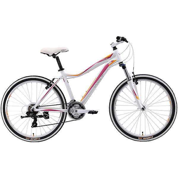 Велосипед  Edelweiss 1.0, 15, 5 дюймов, бело-фиолетовый, WeltВелосипеды и аксессуары<br>Характеристики товара:<br><br>• цвет: белый, фиолетовый<br>• рама: Alloy 6061 <br>• размер рамы: 16,20<br>• диаметр колес: 26<br>• кол-во скоростей: 21<br>• тип вилки: амортизационная<br>• вилка: WELT MRK MLO 100mm<br>• переключатель задний : Shimano TY-300<br>• переключатель передний: Shimano TZ-30<br>• шифтеры: Shimano EF-51<br>• тип тормозов: V-brake<br>• тормоза: Alloy YX-122<br>• система: steel 42/34/24<br>• кассета: Shimano HG20 12-28T<br>• тип рулевой колонки:  1-1/8 безрезьбовая<br>• покрышки: Compass 26 x 2,1<br>• страна бренда: Германия <br><br>Элегантная модель велосипеда Edelweiss разработана для эксплуатации как в городе, так и на легком бездорожье. Цвет рамы, стиль и дизайн подчеркивают женственность, сохраняя спортивные черты. <br><br>Велосипед  Edelweiss 1.0 D, 15,5 дюймов, бело-фиолетовый, Welt можно купить в нашем интернет-магазине.<br>Ширина мм: 1450; Глубина мм: 200; Высота мм: 800; Вес г: 16500; Возраст от месяцев: 168; Возраст до месяцев: 2147483647; Пол: Женский; Возраст: Детский; SKU: 5569419;