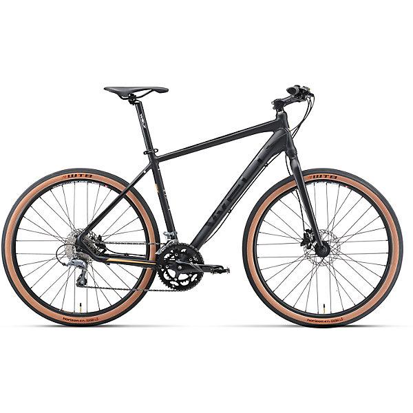 Велосипед  Horizon, черный, WeltВелосипеды и аксессуары<br>Характеристики товара:<br><br>• цвет: черный<br>• облегченнаяалюминиевая рама с<br>• колеса с бескамерными ободами WTB и широкими бескамерными сликами WTB<br>• рама: Alloy 6061 27 Hybrid I<br>• размер рамы: 20<br>•диаметр колес: 27,5<br>• кол-во скоростей: 16<br>• тип вилки: жесткая<br>• вилка: rigid ES27 alloy, threadless, disc mount<br>• переключатель задний : Shimano Claris<br>• переключатель передний: Shimano Claris<br>• шифтеры: Shimano Claris 2x8<br>• тип тормозов: дисковые гидравлические<br>• тормоза: Shimano M-315<br>• система: Prowheel Ounce-512C 50/34T<br>• кассета: Shimano HG 50-8 11-30T<br>• тип рулевой колонки: semi-integrated 1-1/8*44<br>• покрышки: WTB Horizon 650B x 47C<br><br>Гибрид горного велосипеда и ситибайка 50/50 на колесах 27,5 дюймов для универсальности использования на технологичной и облегченной алюминиевой раме.<br><br>Оборудован жесткой алюминиевой вилкой, гидравлическими тормозами Shimano, 16 скоростной трансмиссией Shimano Claгis, колесами с бескамерными ободом WTB и широкими бескамерными сликами WTB.<br><br>Велосипед Horizon, черный, Welt можно купить в нашем интернет-магазине.<br>Ширина мм: 1450; Глубина мм: 200; Высота мм: 800; Вес г: 16500; Возраст от месяцев: 168; Возраст до месяцев: 2147483647; Пол: Унисекс; Возраст: Детский; SKU: 5569431;