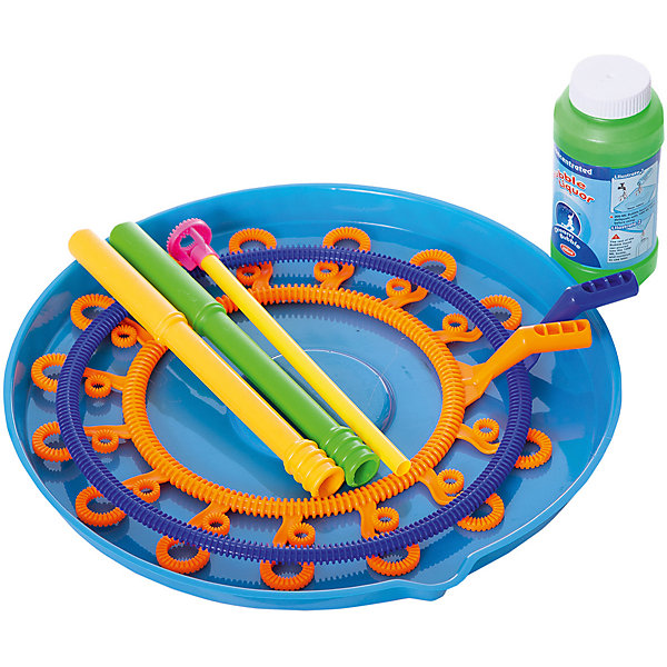 Junfa Toys Набор для запуска мыльных пузырей с 2-мя круглыми рамками, 200 мл, Junfa игрушка бластер для мыльных пузырей дельфин 11 01249 066