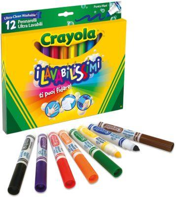 Фломастеры  Супер чисто , 12 шт., Crayola, артикул:5574411 - Письменные принадлежности