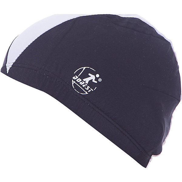 Dobest Шапочка для плавания полиэстеровая, черная, Dobest dobest силиконовая шапочка для плавания dobest с рисунком голубая