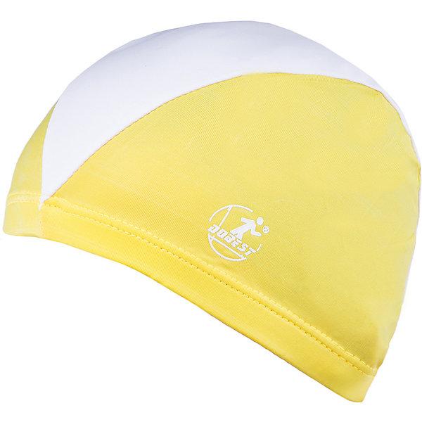 Шапочка для плавания полиэстеровая, желтая, DobestПлавательные принадлежности<br>Характеристики товара:<br><br>• материал: полиэстер<br>• размер: универсальный<br>• страна-производитель: Китай <br>• упаковка: пакет с подвесом<br><br>Прекрасно защищает ваши волосы при посещении бассейна. <br><br>Легко надевается и снимается, не липнет к волосам и не требует особого ухода. <br><br>Благодаря своей эластичности, шапочка подходит к любому размеру головы.<br><br>Шапочку для плавания полиэстеровая, желтая, Dobest можно купить в нашем интернет-магазине.<br>Ширина мм: 165; Глубина мм: 120; Высота мм: 10; Вес г: 23; Возраст от месяцев: 36; Возраст до месяцев: 2147483647; Пол: Унисекс; Возраст: Детский; SKU: 5574454;