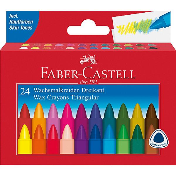 Faber-Castell Мелки восковые Faber-Castell, 24 цвета