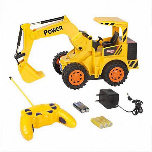 Экскаватор колёсный на р/у, Mioshi TechРадиоуправляемые машины<br>Характеристики товара:<br><br>• возраст от 6 лет;<br>• материал: пластик;<br>• в комплекте: экскаватор, пульт, зарядное устройство, 2 батарейки АА для пульта, 3 аккумуляторных батарейки для игрушки;<br>• длина игрушки 28 см;<br>• размер упаковки 35х20,5х12,5 см;<br>• вес упаковки 854 гр.;<br>• страна производитель: Китай.<br><br>Экскаватор колесный Mioshi Tech — радиоуправляемая игрушка, которая умеет ездить вперед и назад, поворачивать, а также выполнять трюки при нажатии специальных кнопок. Ковш экскаватора опускается и поднимается, изображая настоящие строительные работы. Игрушка оснащена световыми эффектами, делающими игру еще увлекательней. Экскаватор изготовлен из качественного прочного пластика.<br><br>Экскаватор колесный Mioshi Tech можно приобрести в нашем интернет-магазине.<br>Ширина мм: 350; Глубина мм: 125; Высота мм: 205; Вес г: 854; Возраст от месяцев: 72; Возраст до месяцев: 2147483647; Пол: Мужской; Возраст: Детский; SKU: 5581253;