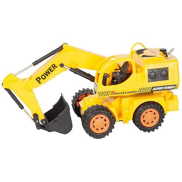 Экскаватор колёсный на р/у строительный, Mioshi TechРадиоуправляемые машины<br>Характеристики товара:<br><br>• возраст от 6 лет;<br>• материал: пластик;<br>• в комплекте: экскаватор, пульт, зарядное устройство, 2 батарейки АА для пульта, 4 аккумуляторных батарейки для игрушки;<br>• длина игрушки 29,6 см;<br>• размер упаковки 34,5х15х17,5 см;<br>• вес упаковки 841 гр.;<br>• страна производитель: Китай.<br><br>Экскаватор колесный строительный Mioshi Tech — радиоуправляемая игрушка, которая умеет ездить во всех направлениях, поворачивать, а также выполнять трюки при нажатии специальных кнопок. Ковш экскаватора опускается и поднимается, изображая настоящие строительные работы. Игрушка оснащена световыми эффектами, делающими игру еще увлекательней. Экскаватор изготовлен из качественного прочного пластика.<br><br>Экскаватор колесный строительный Mioshi Tech можно приобрести в нашем интернет-магазине.