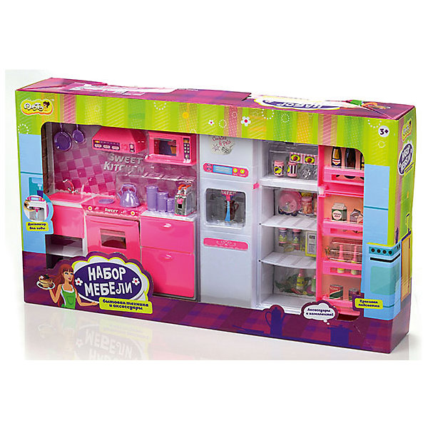 DollyToy Набор мебели для кукол Большая кухня, DollyToy dollytoy мебель для кукол мини кухня цвет розовый