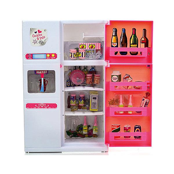 Набор мебели для кукол Холодильник, DollyToyИдеи подарков<br>Характеристики товара:<br><br>• возраст от 3 лет;<br>• материал: пластик;<br>• световые, звуковые эффекты (батарейки в комплекте)<br>• двери открываются и закрываются<br>• подходит для кукол высотой до 29 см<br>• функциональный диспенсер для воды<br>• в комплекте: холодильник, аксессуары;<br>• размер упаковки 33х31х9,5 см;<br>• вес упаковки 847 гр.;<br>• страна производитель: Китай.<br><br>Набор мебели для кукол «Холодильник» DollyToy представляет собой холодильник, наполненный продуктами питания. С набором девочка сможет придумывать свои сюжеты и истории для игры, проявляя фантазию. Набор оснащен световыми и звуковыми эффектами, делающими игру интересней. Игрушка изготовлена из качественного безопасного пластика.<br><br>Набор мебели для кукол «Холодильник» DollyToy можно приобрести в нашем интернет-магазине.<br>Ширина мм: 310; Глубина мм: 95; Высота мм: 330; Вес г: 847; Возраст от месяцев: 36; Возраст до месяцев: 72; Пол: Женский; Возраст: Детский; SKU: 5581271;