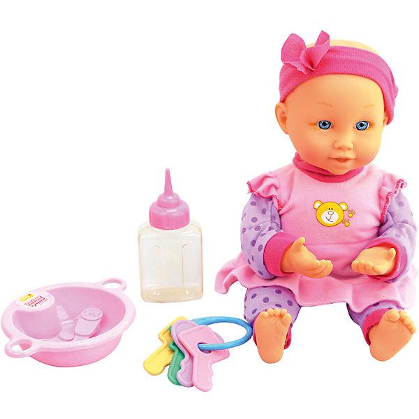 Интерактивная кукла-младенец  Весёлые прятки, 32 см, DollyToyИнтерактивные куклы<br>Характеристики товара:<br><br>• возраст от 3 лет;<br>• материал: пластик, текстиль;<br>• в комплекте: кукла, аксессуары;<br>• высота куклы 32 см;<br>• размер упаковки 30х33,5х15,5 см;<br>• вес упаковки 992 гр.;<br>• страна производитель: Китай.<br><br>Интерактивная кукла-младенец «Веселые прятки» DollyToy привьет девочке чувство заботы, любви, ответственности. Кукла любит играть в прятки, она закрывает глазки и ждет, пока все спрячутся. Во время игры она весело смеется. Когда малышка захочет покушать, то ее надо покормить из бутылочки. <br><br>Интерактивную куклу-младенец «Веселые прятки» DollyToy можно приобрести в нашем интернет-магазине.