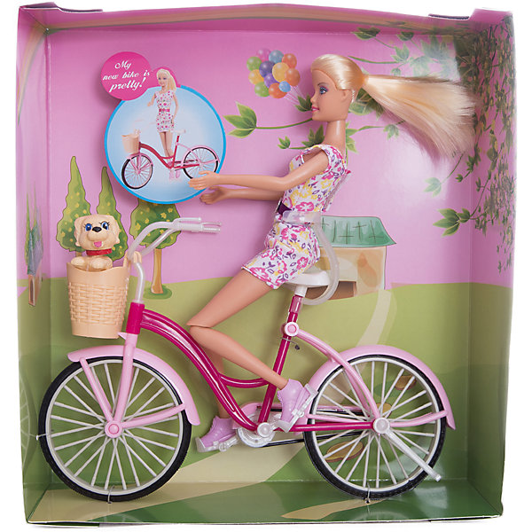 Кукла Велопрогулка, 27 см, Defa LucyКуклы модели<br>Характеристики товара:<br><br>• возраст от 3 лет;<br>• материал: пластик, текстиль;<br>• в комплекте: кукла, собачка, велосипед;<br>• у куклы подвижные ноги<br>• высота куклы 27 см;<br>• размер упаковки 31,5х29х9,5 см;<br>• вес упаковки 580 гр.;<br>• страна производитель: Китай.<br><br>Кукла «Велопрогулка» Defa Lucy — куколка, одетая в стильное платье с поясом и розовые туфельки. Кукла любит заниматься спортом и летом часто выходит покататься на велосипеде. Ее всегда сопровождает любимый питомец — маленькая собачка. С куклой девочка может придумывать свои истории для игр. У куклы подвижные ноги, мягкие волосы, которые можно расчесать и заплести.<br><br>Куклу «Велопрогулка» Defa Lucy можно приобрести в нашем интернет-магазине.<br>Ширина мм: 290; Глубина мм: 95; Высота мм: 315; Вес г: 580; Возраст от месяцев: 36; Возраст до месяцев: 72; Пол: Женский; Возраст: Детский; SKU: 5581291;
