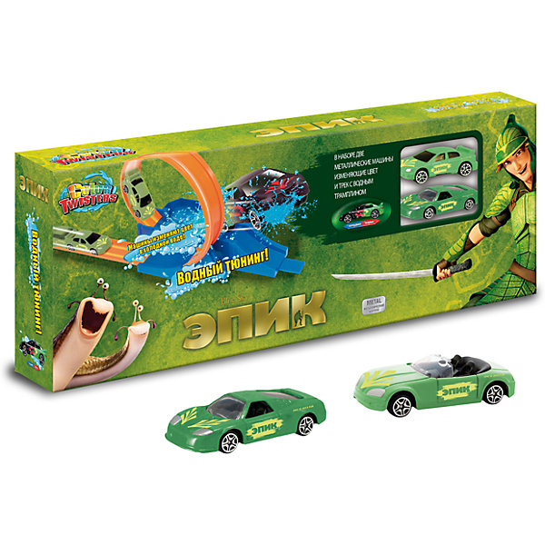 Autotime Автотрек Autotime Color Twisters Water Splash Эпик, с машинкой модель автомобиля color twisters water chameleon racing autotime