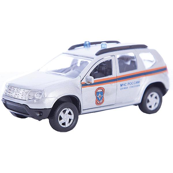 Autotime Машинка Renault Duster МЧС 1:38, Autotime модульный скалодром для мчс