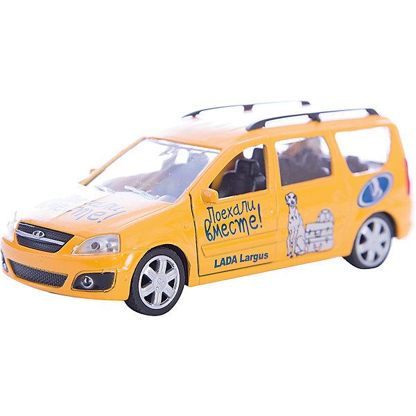 Машинка Lada Largus Поехали вместе! 1:38, AutotimeМашинки<br>Машинка Lada Largus Поехали вместе! 1:38, Autotime (Автотайм).<br><br>Характеристики:<br><br>• Масштаб 1:38<br>• Цвет: желтый<br>• Материал: металл, пластик<br>• Упаковка: картонная коробка блистерного типа<br>• Размер упаковки: 16,5x5,7x7,2 см.<br><br>Машинка Lada Largus Поехали вместе! от Autotime (Автотайм) является уменьшенной копией настоящего автомобиля. Модель отличается высокой степенью детализации. Корпус машинки металлический с пластиковыми элементами. Передние двери открываются, что позволяет рассмотреть салон изнутри в деталях. Машинка оснащена инерционным механизмом. Машинка Lada Largus, выпущенная в русской серии бренда Autotime (Автотайм), станет хорошим подарком и ребенку, и коллекционеру моделей автомобилей.<br><br>Машинку Lada Largus Поехали вместе! 1:38, Autotime (Автотайм) можно купить в нашем интернет-магазине.<br>Ширина мм: 165; Глубина мм: 57; Высота мм: 75; Вес г: 13; Возраст от месяцев: 36; Возраст до месяцев: 2147483647; Пол: Мужской; Возраст: Детский; SKU: 5583883;