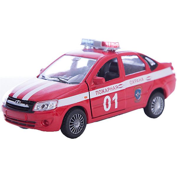 Машинка Lada Granta пожарная охрана 1:36, AutotimeМашинки<br>Характеристики товара:<br><br>• цвет: красный<br>• возраст: от 3 лет<br>• материал: металл, пластик<br>• размер: 16,5х7,х5,7 см<br>• вес: 100 г<br>• масштаб: 1:36<br>• колеса вращаются<br>• хорошая детализация<br>• открываются двери<br>• страна бренда: Россия<br>• страна производства: Китай<br><br>Коллекционная машинка LADA GRANTA пожарная охрана от бренда AUTOTIME станет отличным подарком для мальчика. Подробная детализация машинки порадует увлеченного коллекционера, а открывающиеся двери и свободно вращающиеся колеса придутся по душе юному владельцу игрушечного гаража. Эта игрушка подарит восторг и радость вашему ребенку. <br><br>Игрушка также воздействует на наглядно-образное мышление, логическое мышление, развивает мелкую моторику. Изделие выполнено из сертифицированных материалов, безопасных для детей.<br><br>Машинку «Lada Granta» пожарная охрана от бренда AUTOTIME можно купить в нашем интернет-магазине.<br>Ширина мм: 165; Глубина мм: 57; Высота мм: 75; Вес г: 13; Возраст от месяцев: 36; Возраст до месяцев: 2147483647; Пол: Мужской; Возраст: Детский; SKU: 5583887;