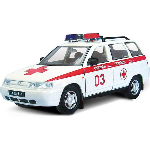 Autotime Машинка Lada 111 скорая помощь 1:36, Autotime autotime коллекционная машинка autotime lada 111 полиция 1 36