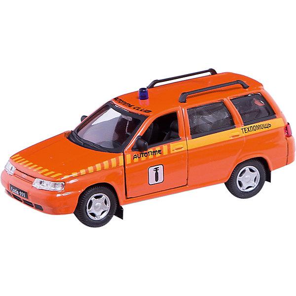 Машинка Lada 111 техпомощь 1:36, AutotimeМашинки<br>Характеристики товара:<br><br>• цвет: оранжевый<br>• материал: металл, пластик<br>• размер: 16,5х7,х5,7 см<br>• вес: 100 г<br>• масштаб: 1:36<br>• прочный материал<br>• хорошая детализация<br>• открываются двери<br>• страна бренда: Россия<br>• страна производства: Китай<br><br>Коллекционная машинка LADA 111 техпомощь от бренда AUTOTIME станет отличным подарком для мальчика. Подробная детализация машинки порадует увлеченного коллекционера, а открывающиеся двери и свободно вращающиеся колеса придутся по душе юному владельцу игрушечного гаража. Эта игрушка подарит восторг и радость вашему ребенку. <br><br>Игрушка также воздействует на наглядно-образное мышление, логическое мышление, развивает мелкую моторику. Изделие выполнено из сертифицированных материалов, безопасных для детей.<br><br>Машинку «Lada 111» техпомощь от бренда AUTOTIME можно купить в нашем интернет-магазине.<br>Ширина мм: 165; Глубина мм: 57; Высота мм: 75; Вес г: 13; Возраст от месяцев: 36; Возраст до месяцев: 2147483647; Пол: Мужской; Возраст: Детский; SKU: 5583921;
