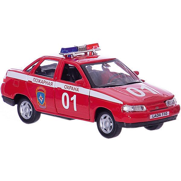 Autotime Машинка Lada 110 пожарная охрана 1:36, Autotime autotime коллекционная машинка autotime lada 111 полиция 1 36