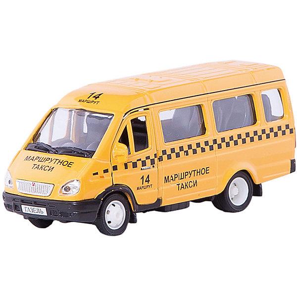 Autotime Машинка Газель такси 1:43, Autotime autotime модель автомобиля uaz 39625 дорожные работы