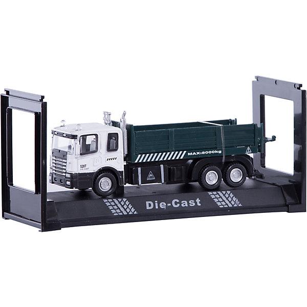 Autotime Машинка Transport Dump Truck бортовая 1:48, Autotime pilotage конструктор cada technic dump truck