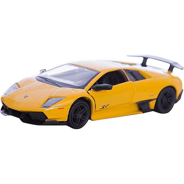 Машинка Lamborghini Murcielago LP670-4 SV 5, AutotimeМашинки<br>Характеристики товара:<br><br>• цвет: в ассортименте<br>• возраст: от 3 лет<br>• материал: металл, пластик<br>• масштаб: 1:32<br>• двери открываются<br>• размер упаковки: 16х7х7 см<br>• вес с упаковкой: 100 г<br>• страна бренда: Россия, Китай<br>• страна изготовитель: Китай<br><br>Такая машинка представляет собой миниатюрную копию реально существующей модели. Она отличается высокой детализацией, является коллекционной моделью. <br><br>Сделана машинка из прочного и безопасного материала. Корпус - из металла. <br><br>Машинку «Lamborghini Murcielago LP670-4 SV 5», Autotime (Автотайм) можно купить в нашем интернет-магазине.<br>Ширина мм: 165; Глубина мм: 57; Высота мм: 75; Вес г: 13; Возраст от месяцев: 36; Возраст до месяцев: 2147483647; Пол: Мужской; Возраст: Детский; SKU: 5584105;