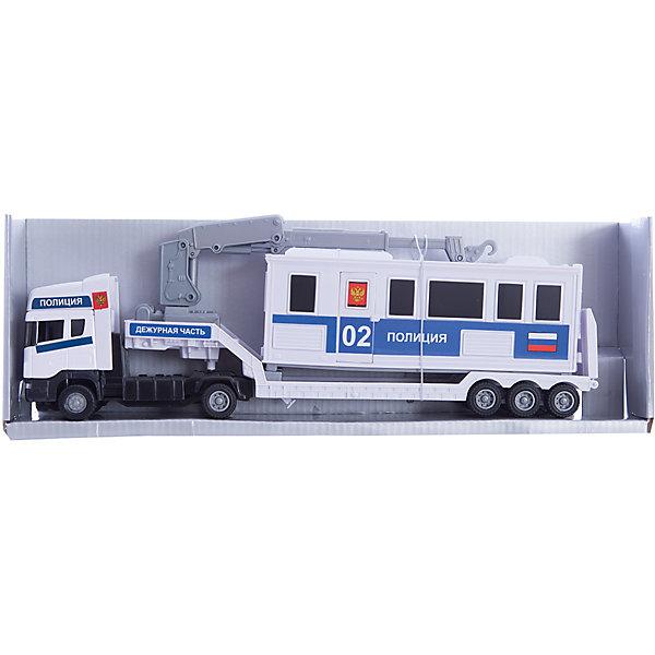Autotime Машинка Scania база на платформе, полиция 1:48, Autotime обувь на высокой платформе its own brand 116 31 32 33