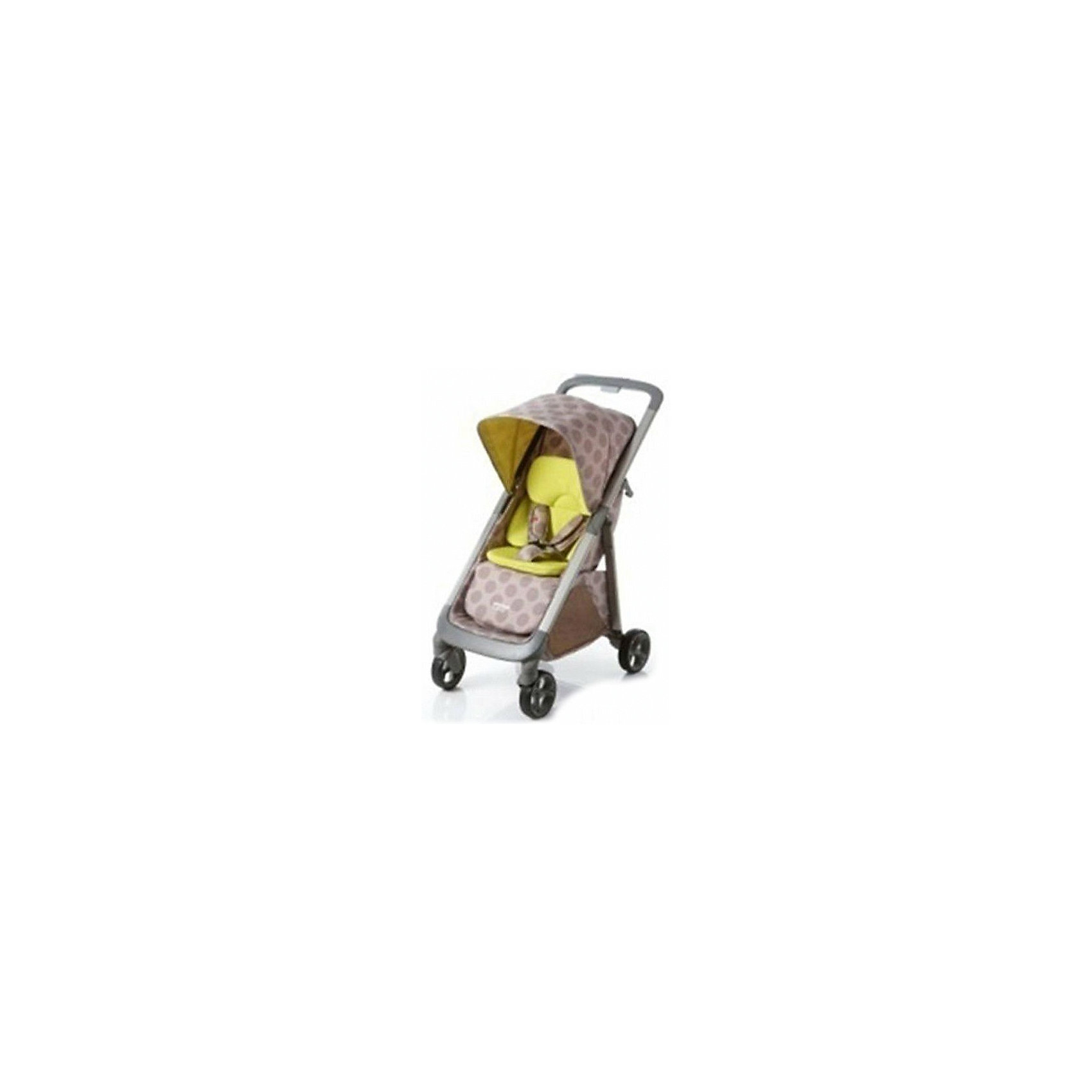 Прогулочная коляска Geoby C1020, бежевый/лимонный