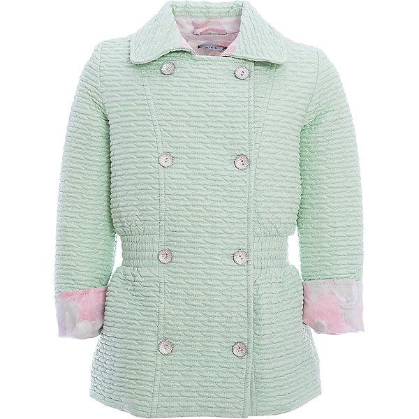 Куртка для девочки WojcikВерхняя одежда<br>Характеристики товара:<br><br>• цвет: зеленый<br>• состав ткани: 100% полиэстер<br>• сезон: демисезон<br>• особенности модели: отложной воротник<br>• застежка: пуговицы<br>• длинные рукава<br>• страна бренда: Польша<br>• страна изготовитель: Польша<br><br>Легкая куртка для девочки Войчик отличается модным кроем и актуальным в этом сезоне цветом. Детская куртка удобно застегивается. Куртка для детей - удобная и стильная. Польская детская одежда для детей от бренда Wojcik - это качественные и стильные вещи. <br><br>Куртку для девочки Wojcik (Войчик) можно купить в нашем интернет-магазине.<br>Ширина мм: 356; Глубина мм: 10; Высота мм: 245; Вес г: 519; Цвет: зеленый; Возраст от месяцев: 60; Возраст до месяцев: 72; Пол: Женский; Возраст: Детский; Размер: 116,134; SKU: 5588437;