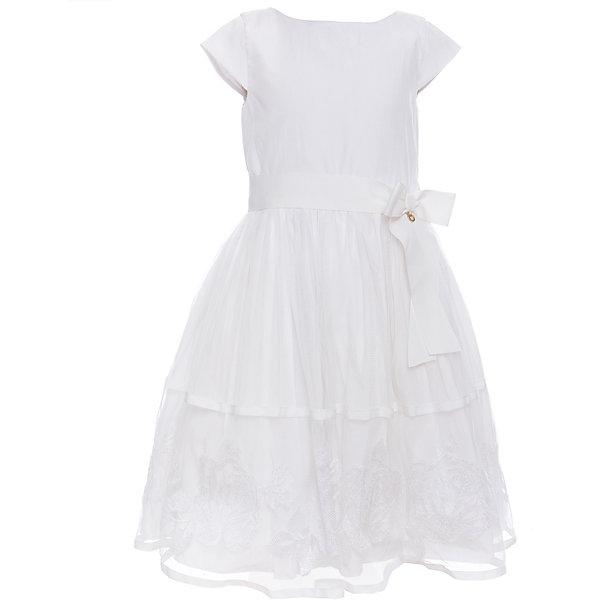 Платье для девочки WojcikОдежда<br>Характеристики товара:<br><br>• цвет: белый<br>• состав ткани: 100% полиэстер<br>• сезон: лето<br>• особенности модели: нарядная<br>• застежка: молния<br>• короткие рукава<br>• страна бренда: Польша<br>• страна изготовитель: Польша<br><br>Красивое платье для детей украшено бантом. Такое платье для девочки Войчик легко надевается. Нарядное детское платье отличается пышным подолом. Популярный бренд Wojcik - это польская детская одежда отличного качества по доступной цене. <br><br>Платье для девочки Wojcik (Войчик) можно купить в нашем интернет-магазине.<br>Ширина мм: 236; Глубина мм: 16; Высота мм: 184; Вес г: 177; Цвет: кремовый; Возраст от месяцев: 18; Возраст до месяцев: 24; Пол: Женский; Возраст: Детский; Размер: 92,134,128,122,116,110,104,98; SKU: 5590230;
