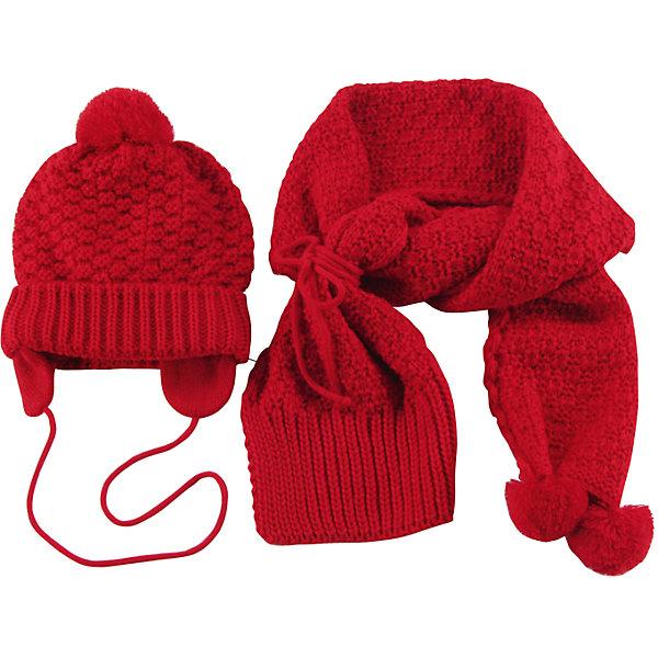 Комплект для девочки WojcikШапочки<br>Характеристики товара:<br><br>• цвет: красный<br>• комплектация: шарф, шапка<br>• состав ткани: 100% акрил<br>• сезон: демисезон<br>• декор: вязаный узор<br>• страна бренда: Польша<br>• страна изготовитель: Польша<br><br>Эффектный комплект для девочки Wojcik симпатично смотрится. Детские шарф и шапка удобно сидят и не колются. Эти шарф и шапка для детей - мягкие и комфортные. Одежда для детей из Польши от бренда Wojcik отличается хорошим качеством и стилем. <br><br>Комплект для девочки Wojcik (Войчик) можно купить в нашем интернет-магазине.<br>Ширина мм: 190; Глубина мм: 74; Высота мм: 229; Вес г: 236; Цвет: красный; Возраст от месяцев: 12; Возраст до месяцев: 15; Пол: Женский; Возраст: Детский; Размер: 80,74,98,92,86; SKU: 5590586;