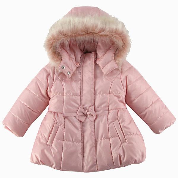 Куртка утепленная для девочки WojcikВерхняя одежда<br>Характеристики товара:<br><br>• цвет: розовый<br>• состав ткани: 100% полиэстер<br>• подкладка: 100% полиэстер<br>• утеплитель: 100% полиэстер<br>• сезон: демисезон<br>• температурный режим: от -5 до +10<br>• особенности модели: с капюшоном<br>• застежка: молния<br>• капюшон: с мехом, съемный<br>• длинные рукава<br>• страна бренда: Польша<br>• страна изготовитель: Польша<br><br>Эта утепленная куртка для девочки от Войчик дополнена отстегивающимся капюшоном с опушкой. Детская куртка удобно застегивается. Куртка для детей имеет мягкую приятную на ощупь подкладку. Польская детская одежда для детей от бренда Wojcik - это качественные и стильные вещи. <br><br>Куртку утепленную для девочки Wojcik (Войчик) можно купить в нашем интернет-магазине.<br>Ширина мм: 356; Глубина мм: 10; Высота мм: 245; Вес г: 519; Цвет: розовый; Возраст от месяцев: 12; Возраст до месяцев: 15; Пол: Женский; Возраст: Детский; Размер: 80,98,92,86; SKU: 5590685;