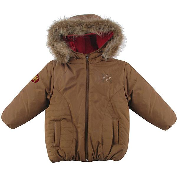 Куртка утепленная для мальчика WojcikВерхняя одежда<br>Характеристики товара:<br><br>• цвет: коричневый<br>• состав ткани: 100% полиэстер<br>• подкладка: 100% полиэстер<br>• утеплитель: 100% полиэстер<br>• сезон: демисезон<br>• температурный режим: от -5 до +15<br>• особенности модели: с капюшоном<br>• застежка: молния<br>• длинные рукава<br>• страна бренда: Польша<br>• страна изготовитель: Польша<br><br>Такая куртка для мальчика от Войчик дополнена капюшоном и карманами. Детская куртка удобно застегивается. Утепленная куртка для детей выполнена в модной красивой расцветке. Польская детская одежда для детей от бренда Wojcik - это качественные и стильные вещи. <br><br>Куртку утепленную для мальчика Wojcik (Войчик) можно купить в нашем интернет-магазине.<br>Ширина мм: 356; Глубина мм: 10; Высота мм: 245; Вес г: 519; Цвет: коричневый; Возраст от месяцев: 12; Возраст до месяцев: 18; Пол: Мужской; Возраст: Детский; Размер: 86,98,92; SKU: 5591977;