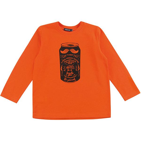 Футболка с длинным рукавом для мальчика WojcikФутболки с длинным рукавом<br>Характеристики товара:<br><br>• цвет: оранжевый<br>• состав ткани: 92% хлопок, 8% эластан<br>• сезон: демисезон<br>• длинные рукава<br>• страна бренда: Польша<br>• страна изготовитель: Польша<br><br>Бренд Wojcik - это польская детская одежда отличного качества по доступной цене. Яркий детский лонгслив декорирован принтом. Удобный лонгслив для детей сделан из дышащего мягкого материала. Такая футболка с длинным рукавом для мальчика Войчик легко надевается. <br><br>Лонгслив для мальчика Wojcik (Войчик) можно купить в нашем интернет-магазине.<br>Ширина мм: 230; Глубина мм: 40; Высота мм: 220; Вес г: 250; Цвет: оранжевый; Возраст от месяцев: 18; Возраст до месяцев: 24; Пол: Мужской; Возраст: Детский; Размер: 92,134,128,122,116,110,104,98; SKU: 5592178;