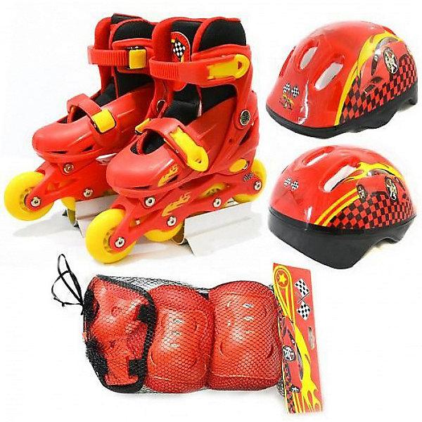 next Набор: ролики раздвижные, набор защиты, шлем, Ралли, Next onlitop ролики раздвижные 29 32 размер