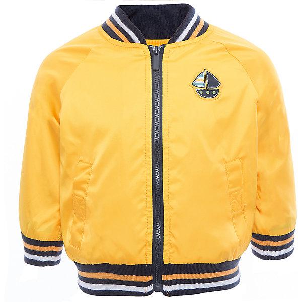 Куртка для мальчика PlayTodayВерхняя одежда<br>Характеристики товара:<br><br>• цвет: желтый<br>• состав: 100% полиэстер, подкладка: 65% полиэстер, 35% хлопок<br>• декорирована аппликацией<br>• с водоотталкивающей пропиткой<br>• мягкие манжеты<br>• карманы<br>• температурный режим: от +10° до +20° С<br>• комфортная посадка<br>• коллекция: весна-лето 2017<br>• страна бренда: Германия<br>• страна производства: Китай<br><br>Популярный бренд PlayToday выпустил новую коллекцию! Вещи из неё продолжают радовать покупателей удобством, стильным дизайном и продуманным кроем. Дети носят их с удовольствием. <br>Такая стильная модель обеспечит ребенку комфорт благодаря качественному материалу и продуманному крою. В составе ткани подкладки - натуральный хлопок, который позволяет коже дышать и не вызывает аллергии.<br>PlayToday - это линейка товаров, созданная специально для детей. Дизайнеры учитывают новые веяния моды и потребности детей. Порадуйте ребенка обновкой от проверенного производителя!<br><br>Куртку для мальчика от известного бренда PlayToday можно купить в нашем интернет-магазине.<br>Ширина мм: 356; Глубина мм: 10; Высота мм: 245; Вес г: 519; Цвет: белый; Возраст от месяцев: 12; Возраст до месяцев: 15; Пол: Мужской; Возраст: Детский; Размер: 80,74,86,92; SKU: 5604520;