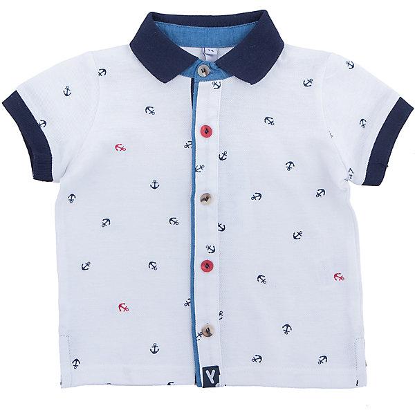 Рубашка для мальчика PlayTodayФутболки, поло и топы<br>Характеристики товара:<br><br>• цвет: разноцветный<br>• состав: 100% хлопок<br>• застежки: пуговицы<br>• дышащий материал<br>• свободная посадка<br>• легкая ткань<br>• короткие рукава<br>• комфортная посадка<br>• коллекция: весна-лето 2017<br>• страна бренда: Германия<br>• страна производства: Китай<br><br>Популярный бренд PlayToday выпустил новую коллекцию! Вещи из неё продолжают радовать покупателей удобством, стильным дизайном и продуманным кроем. Дети носят их с удовольствием. <br>Такая стильная модель обеспечит ребенку комфорт благодаря качественному материалу и продуманному крою. В составе ткани - натуральный хлопок, который позволяет коже дышать и не вызывает аллергии. Такие вещи очень просты в уходе.<br>PlayToday - это линейка товаров, созданная специально для детей. Дизайнеры учитывают новые веяния моды и потребности детей. Порадуйте ребенка обновкой от проверенного производителя!<br><br>Рубашку для мальчика от известного бренда PlayToday можно купить в нашем интернет-магазине.<br>Ширина мм: 174; Глубина мм: 10; Высота мм: 169; Вес г: 157; Цвет: белый; Возраст от месяцев: 6; Возраст до месяцев: 9; Пол: Мужской; Возраст: Детский; Размер: 74,86,80,92; SKU: 5604590;
