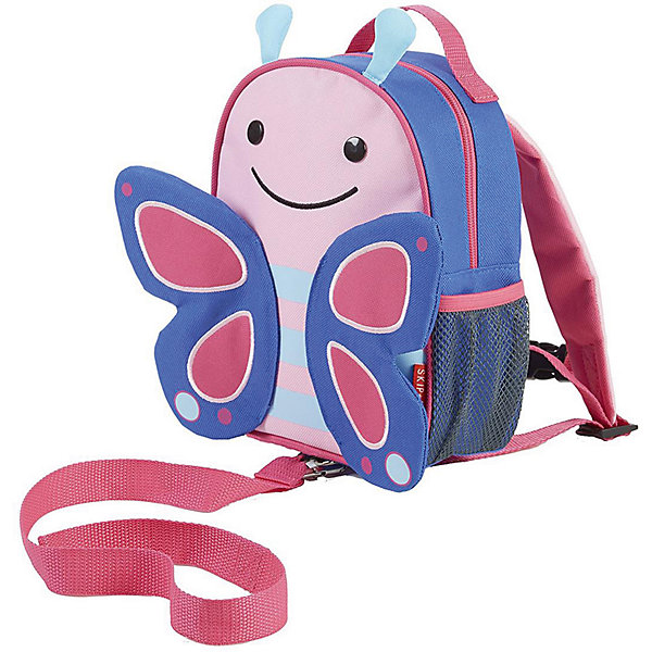 Рюкзак детский с поводком Бабочка, Skip HopДетские рюкзаки<br>Характеристики товара:<br><br>• возраст от 11 месяцев;<br>• материал: полиэстер;<br>• размер рюкзака 23х19х8,5 см;<br>• страна производитель: Китай.<br><br>Рюкзак детский с поводком «Бабочка» Skip Hop выполнен в виде бабочки с разноцветными крыльями. Теперь все необходимые вещи всегда будут под рукой у малыша. Он может брать рюкзачок с собой на прогулку, в гости, в детский садик. Во внутреннем отделении поместятся любимые игрушки, карандаши, раскраски, блокноты. Сбоку сетчатый кармашек для бутылочки с напитками или контейнера для еды.<br><br>Мягкие лямки обеспечивают комфортное ношение. Предусмотрена небольшая ручка для переноски в руках или подвешивания. Специальный ремешок-поводок разработан для родителей, которые будут контролировать движения малыша, который еще только познает окружающий мир. Рюкзак изготовлен из плотных износостойких материалов.<br><br>Рюкзак детский с поводком «Бабочка» Skip Hop можно приобрести в нашем интернет-магазине.