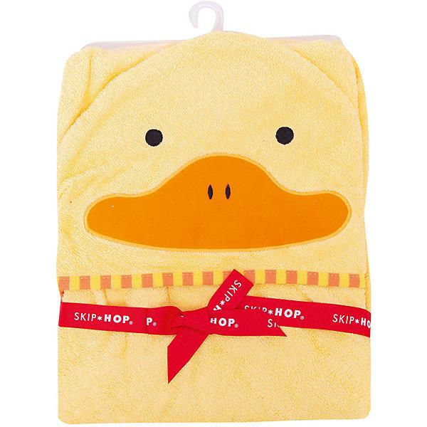 Skip Hop Полотенце детское Утенок, Skip Hop 3 sprouts детское полотенце с капюшоном морж blue walrus 28649