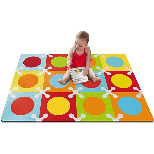 Напольный коврик, Skip Hop, цветнойДетские ковры<br>Характеристики товара:<br><br>• возраст от 10 месяцев;<br>• материал: ПВХ;<br>• в комплекте 12 квадратов;<br>• размер коврика 107х142 см;<br>• страна производитель: Китай.<br><br>Напольный коврик Playspot Skip Hop цветной — развивающий коврик для детей от 10 месяцев, который может служить как обычным ковриком для игр и занятий, так и настоящим пазлом из больших деталей. Детали коврика можно соединять между собой в любой конфигурации и менять постоянно местами. Собирая пазл, дети выучат формы, цвета, у них развивается моторика рук, мышление, цветовое восприятие, тактильные ощущения. Коврик изготовлен из качественного приятного на ощупь материала, безопасного для детей.<br><br>Напольный коврик Playspot Skip Hop цветной можно приобрести в нашем интернет-магазине.<br>Ширина мм: 370; Глубина мм: 200; Высота мм: 370; Вес г: 2534; Возраст от месяцев: 24; Возраст до месяцев: 84; Пол: Унисекс; Возраст: Детский; SKU: 5608259;